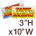 3' H x 10' W