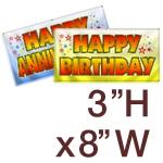 3' H x 8' W